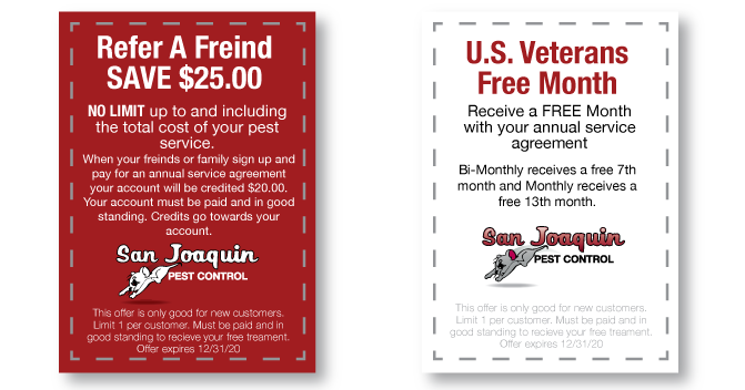 San Joaquin Pest of Fresno Coupons